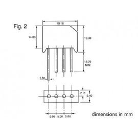 Puentes rectificador 800v-4a rs406//l